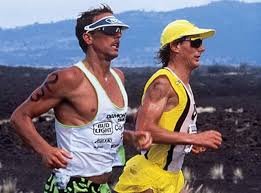 Hot Out Here: Dave Scott and Mark Allen battle in Hawaii Ironman 1989.